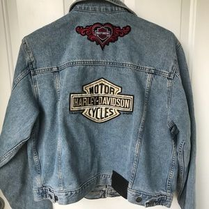 Vintage Harley Davidson ladies denim jacket